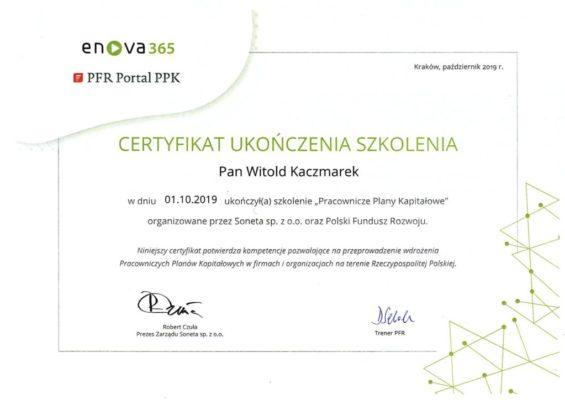 PPK - Certyfikat