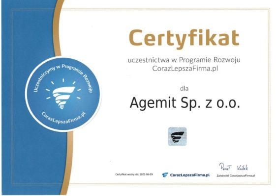 Certyfikat CorazLepszaFirma
